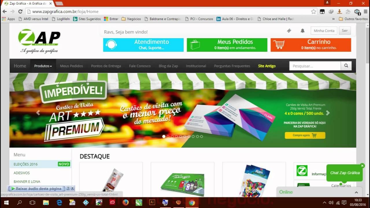fd88891afcb Como fazer o cadastro e comprar na Zap Grafica - YouTube