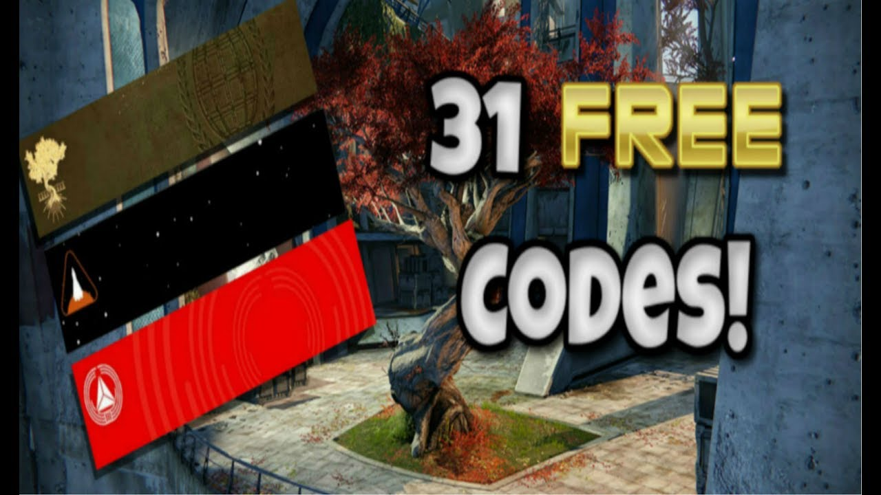 31 Destiny DLC CODES FOR FREE! - EMBLEMS, SHADERS, GRIMOIRE PS4 PS3 Xbox  One 360