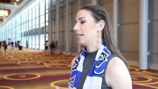 Morgan Andrews at the 2017 NWSL College Draft