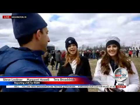 RSBN Interviews Outside President Donald Trump  Rally in Washington, MI 4/28/18