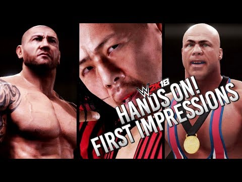 WWE 2K18 HANDS ON! FIRST IMPRESSIONS! GAMEPLAY, GRAPHICS & MORE!