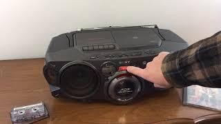 Sony CD Cassette AM-FM Boombox CFD-G70