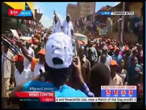 Raila leads NASA in Tharaka Nithi campaign tour