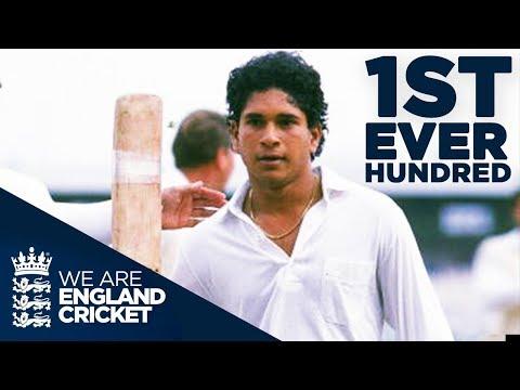 Sachin Tendulkar's First EVER hundred At 17 Years Old | England v India 1990 - Highlights