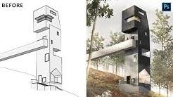 Architectural Rendering Photoshop - Photoshop Architecture