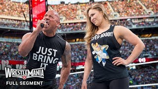 FULL SEGMENT - The Rock and Ronda Rousey confront The Authority: WrestleMania 31 (WWE Network)