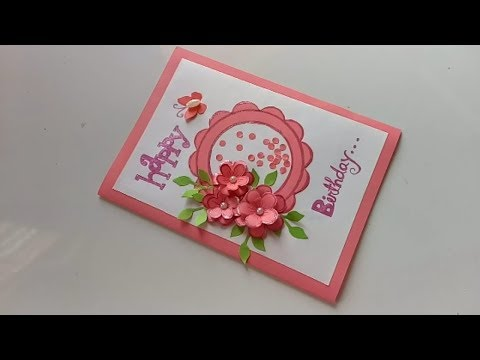 Beautiful Handmade Birthday card idea-DIY Greeting Cards for Birthday.