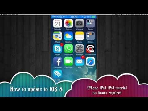 How to update to iOS 8 straight from iPhone iPad iPod , no itunes needed