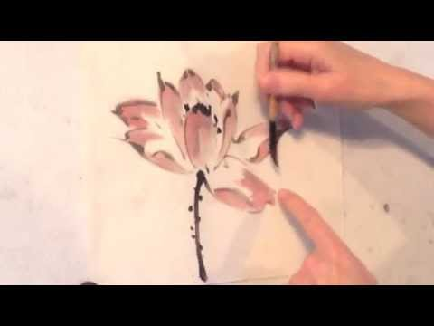 Outline Lotus Flower