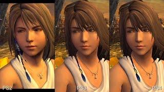 Final Fantasy X HD Remaster PS2 vs PS3 vs PS4 Comparison