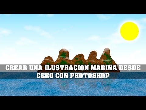 CREAR UNA ILUSTRACION MARINA DESDE CERO CON PHOTOSHOP - MARINE ILUSTRATION WITH PHOTOSHOP