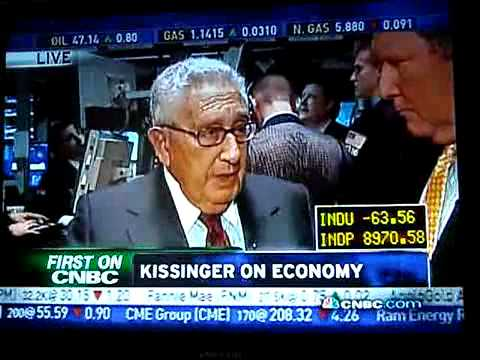Degenerate Kissinger calls for New World Order again