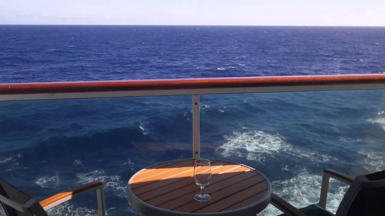 View from a cruise ship balcony youtube for Balcony on cruise ship
