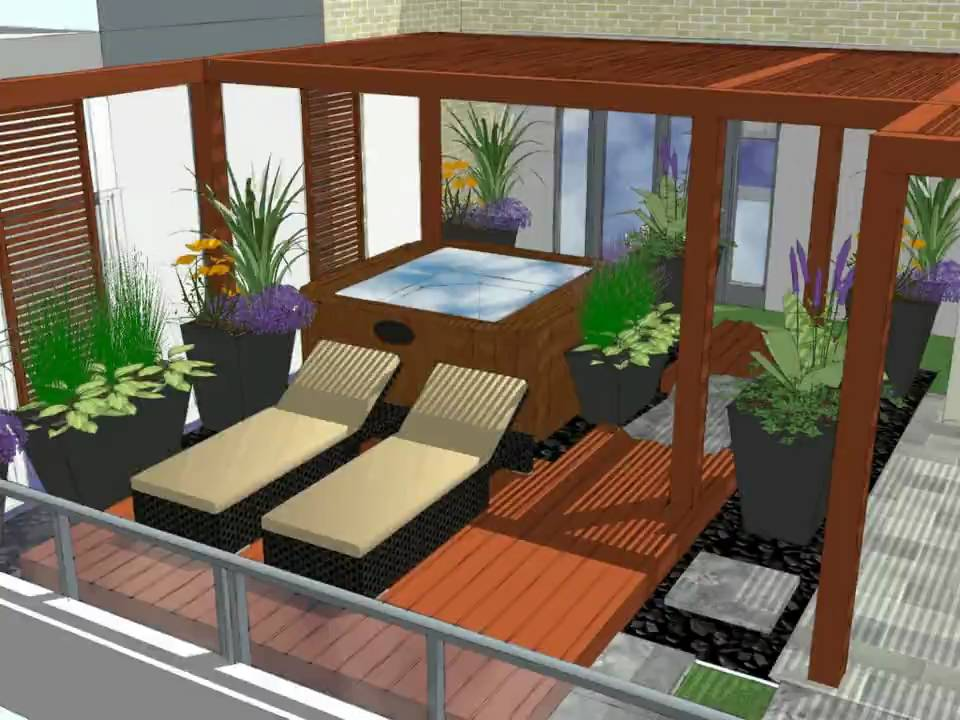 Taylor Rooftop Garden Design Youtube