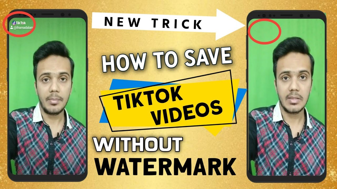 image Save Tik Tok Musically Videos In Phone Gallery Without Watermark | Remove Tik Tok Logo Easy Way