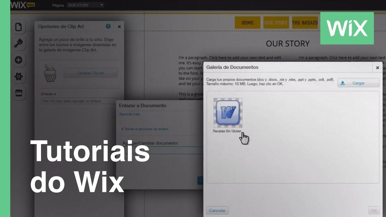 Cómo agregar documentos a tu sitio web | Wix.com - YouTube