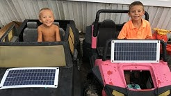 Solar chargers for power wheel toys!
