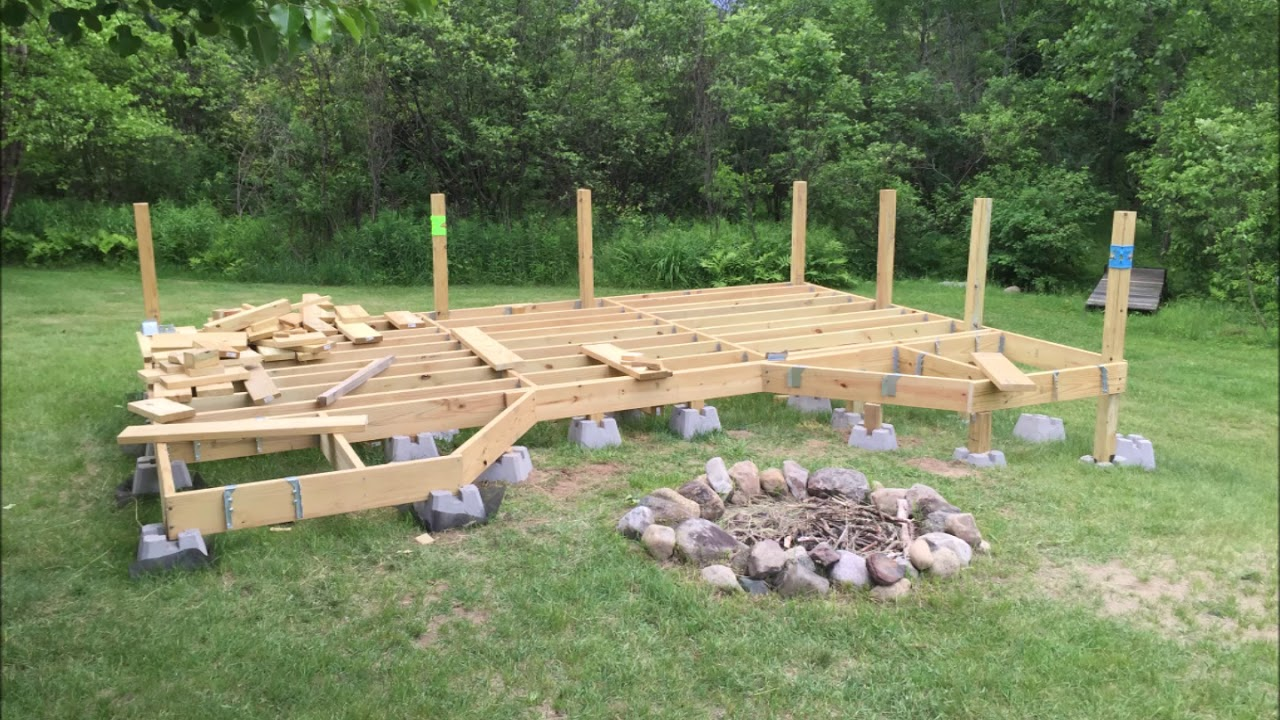 How I Built My Floating Deck On Uneven Ground