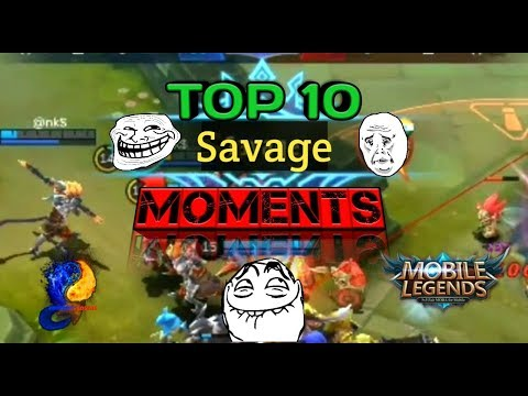 Top 10 Best Savage/Pentakill Moments!   Mobile Legends Savages/Pentakills!