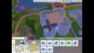 "The Sims 4: Building Round Rooms + CC Rounded ""Windows""! (Part 1)"