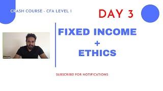 CFA Level I  Complete CRASH COURSE  FI + Ethics