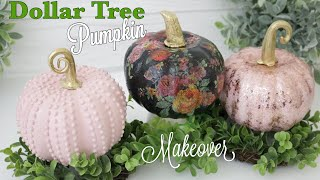 Dollar Tree DIY Pumpkin Makeover | Pumpkin Decor