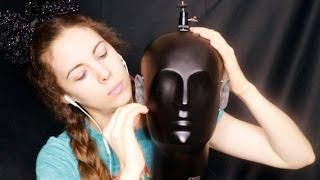Scratching, Tapping And Rubbing The Binaural Head - Ear touching - ASMR