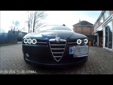 Alfa Romeo 159 & Brera COB angel eyes (Halo's) from full-beam