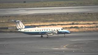 *Inc ATC* United Express Embraer EMB-120 Brasilia @ LAX - Takeoff 25R 18/05/2012