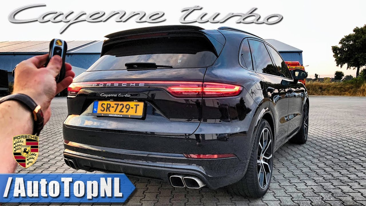 2019 Porsche Cayenne Turbo Review 300km H Pov On Autobahn Road By Autotopnl Youtube