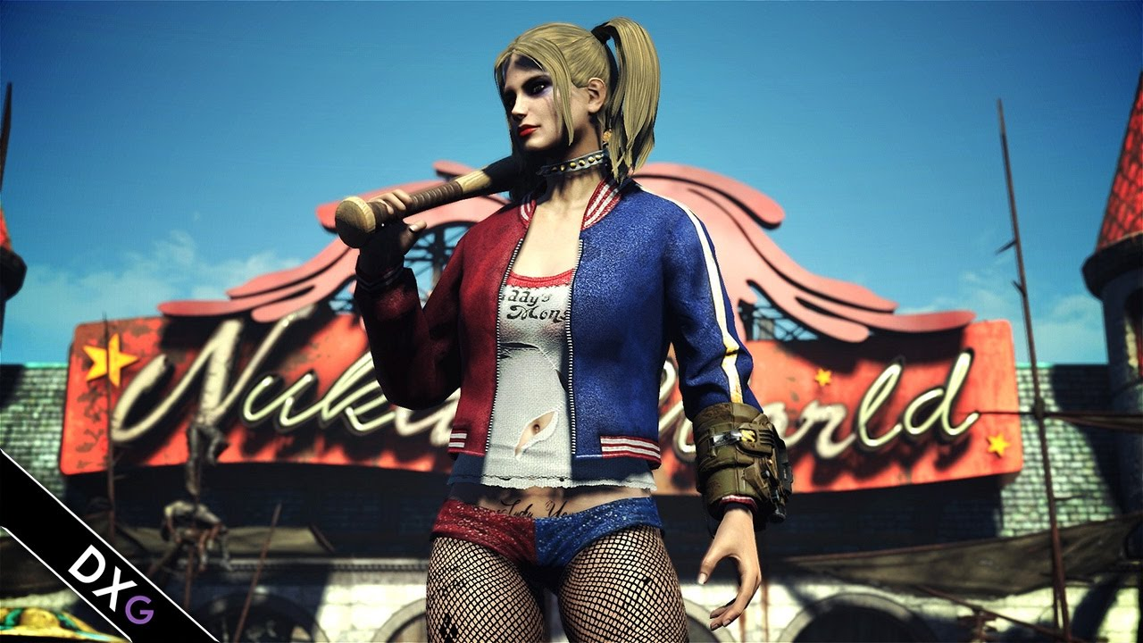 Harley Girl Wallpaper Harley Quinn Outfit Fallout 4 Mod Youtube