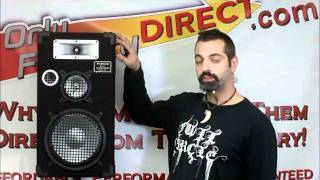 3-way Loudspeakers for PA DJ from Podium Pro Audio E1025.wmv