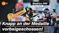 Biathlon-WM: Deutsche Mixed-Staffel verpasst Medaille knapp | SPORTextra - ZDF