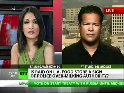 Raiding organic food stores RawSome in Santa Monica