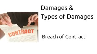 Damages & Types of Damages | Breach of Contract | Indian Contract | CA CPT | CS & CMA Foundation