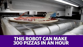 This robot cranks out 300 pizzas and hour