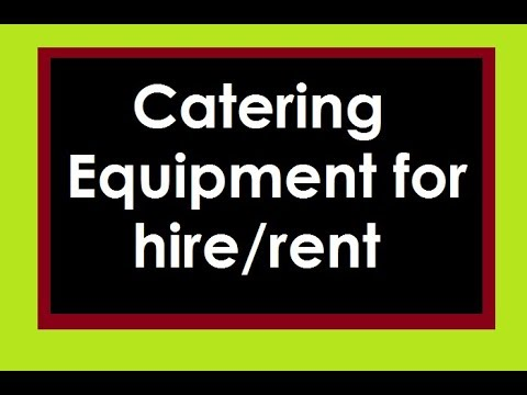 How To Book For Catering Equipment For Your Event With Party Equip