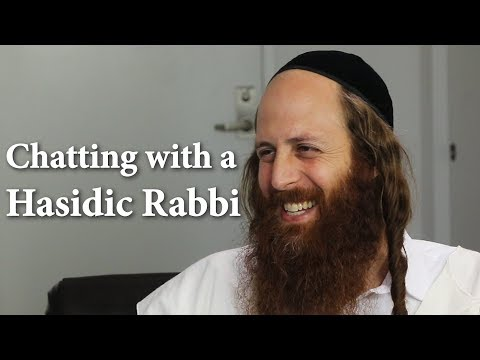 Chatting with a Hasidic Rabbi