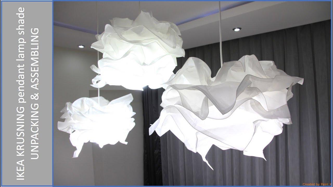 Ikea Krusning Pendant Lamp Unpacking Assembling Review Youtube