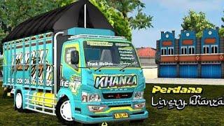 truk canter khanza muatan cabe full || mod bus simulator