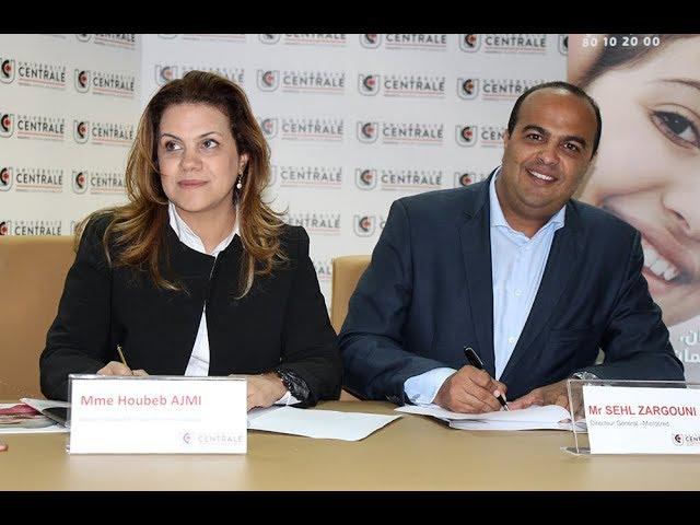 signature d'un accord de partenariat entre Le Groupe Université Centrale et Microcred Tunisie
