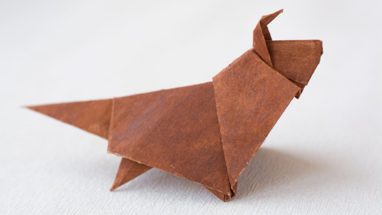 Paper Origami dog. How to make Shetland Sheepdog - YouTube - photo#2