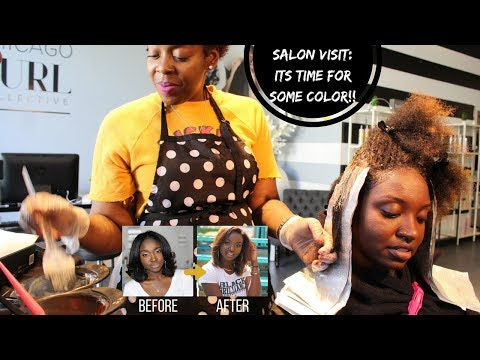 Salon Visit | Coloring My Natural Hair (Fall Colors)