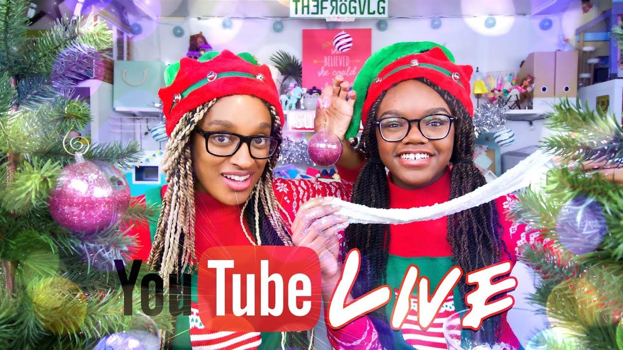 YouTube LIVE with the Froggy\'s | Q&A | SLIME Christmas Ornaments ...
