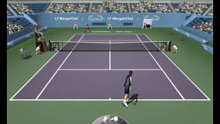 """Tennis Sim - line-calling system from """"Full Ace PC"""""""
