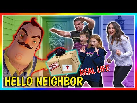 THE NEIGHBOR STOLE OUR FAN MAIL!   HELLO NEIGHBOR REAL LIFE   We Are The Davises