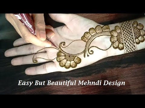 Easy mehndi designs for front hands