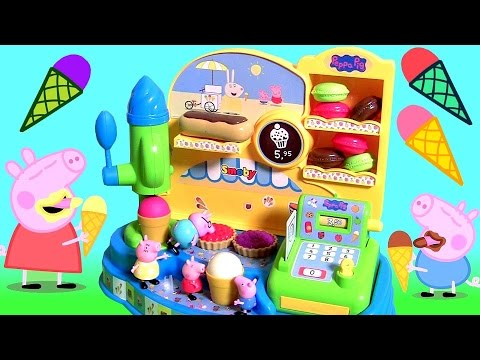 Peppa Pig Ice Cream Machine with Cash Register | Fábrica De Helados Juguetes Peppa Pig Heladería