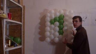 как сделать панно из шаров