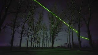 Daan Roosegaarde uses green lasers to showcase the